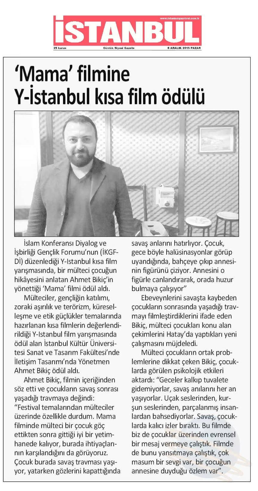 ICYF-DC - İSTANBUL GAZETESİ