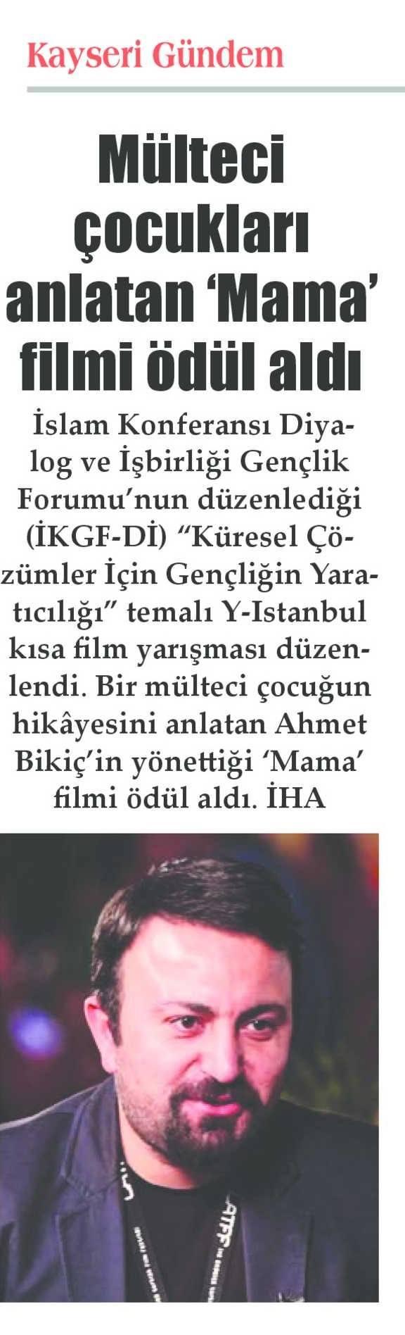 ICYF-DC - KAYSERİ GÜNDEM GAZETESİ