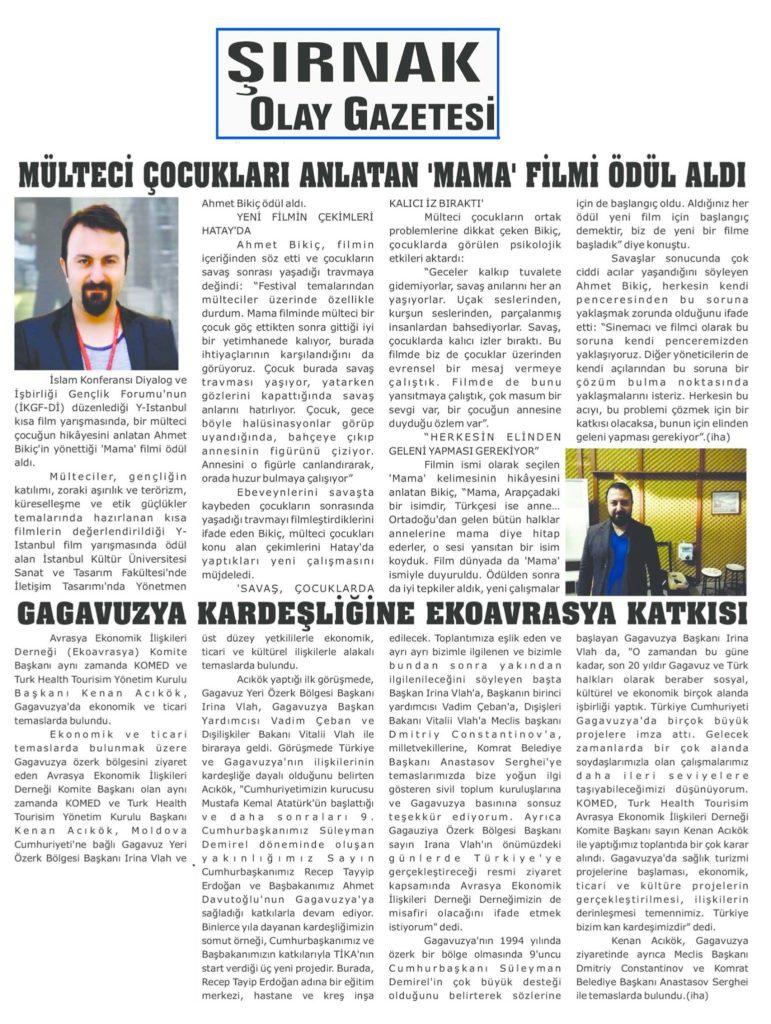 ICYF-DC - ŞIRNAK OLAY GAZETESİ