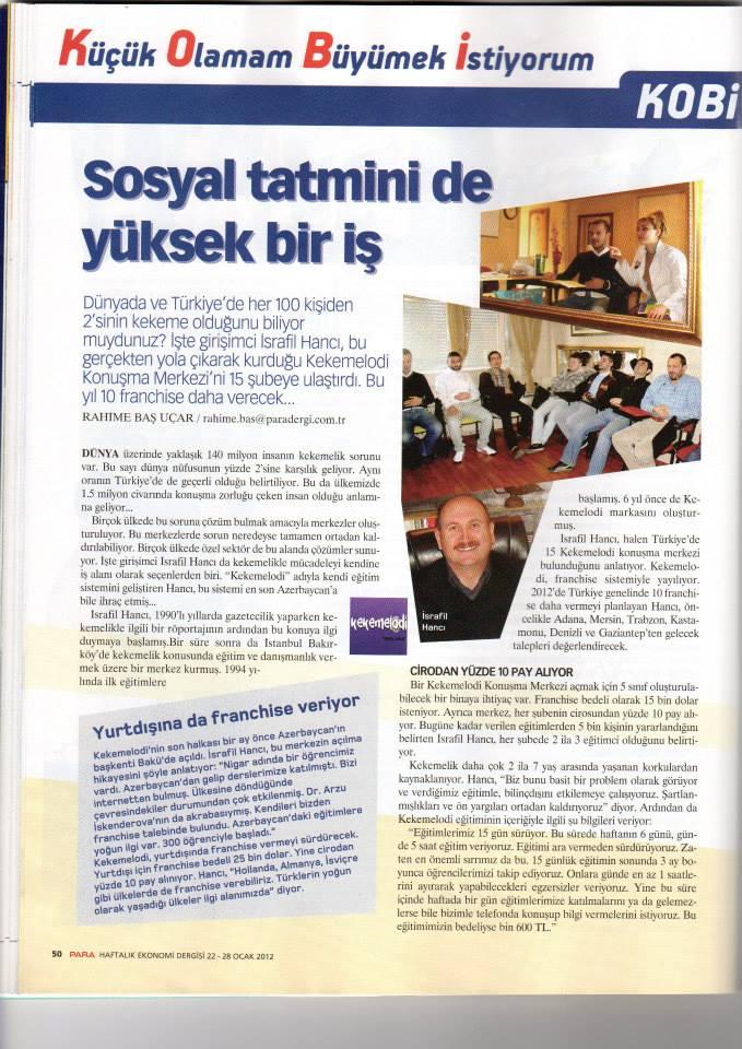 KEKEMELODİ -PARA DERGİSİ