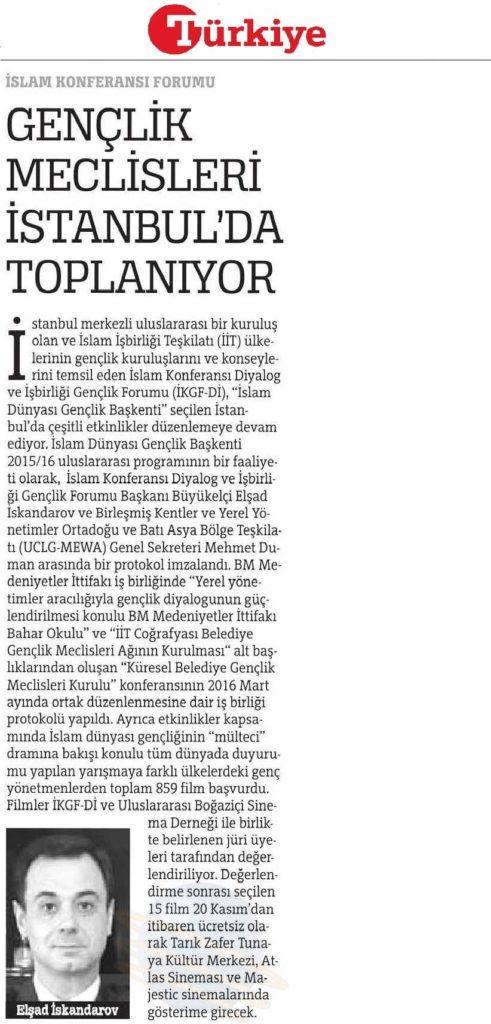 ICYF-DC - TÜRKİYE GAZETESİ