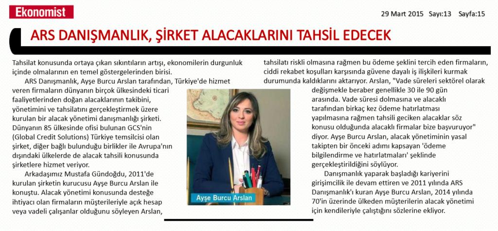 ARS DANIŞMANLIK - EKONOMİST DERGİSİ